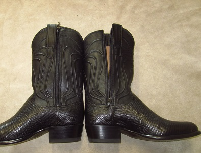 We can add zippers to most cowboy and western boots.