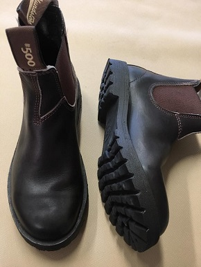 Rossi boots resoled with Vibram lug soles- style #1705