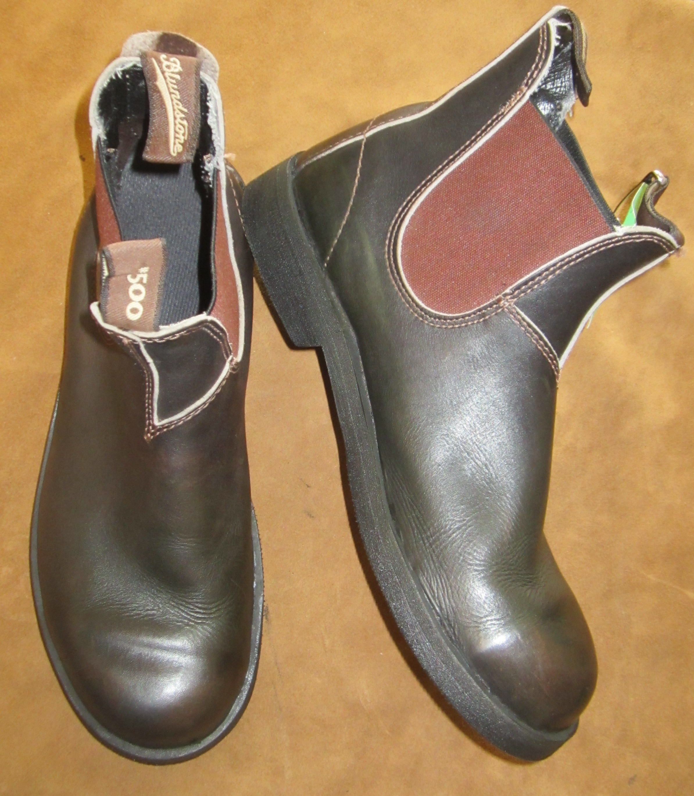 Blundstones resoled with smooth Vibram 1716 soles