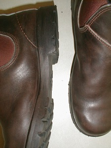 Another photo of Redback boots resoled with Vibram lug soles- style #1705