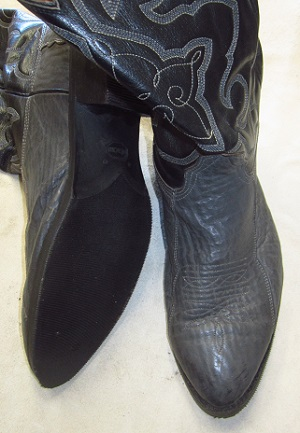 Cowboy boots with Vibram Westerner, or style #269 soles.
