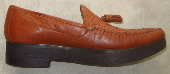 Johnson & Murphy shoe after our mail order shoe lift service.