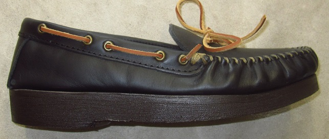 Minnetonka shoes after our mail-order shoe lift service.