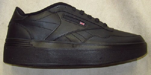 Reebok shoes after we added a lift to them.